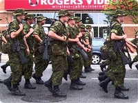 Canadian military in parade